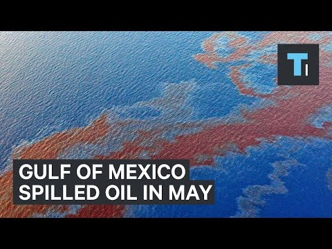 Gulf of Mexico spilled oil in May