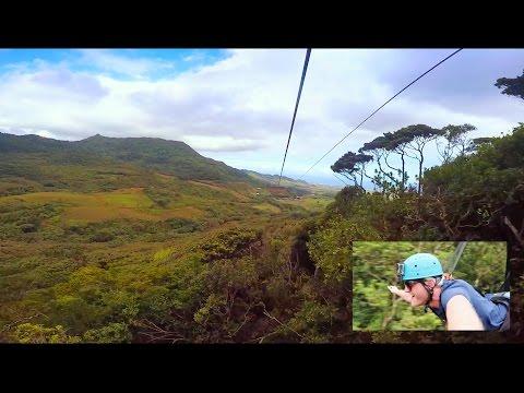 Crazy ziplining - 1500 Meter in Mauritius