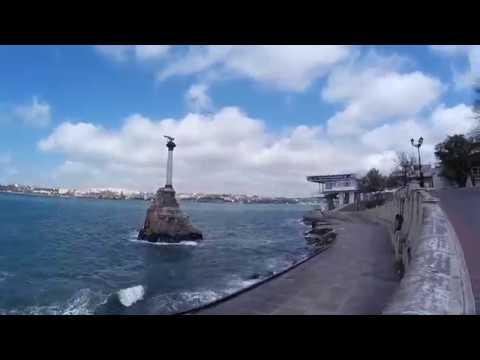 Крым 2017. Севастополь город герой. Улицы города за 11минут