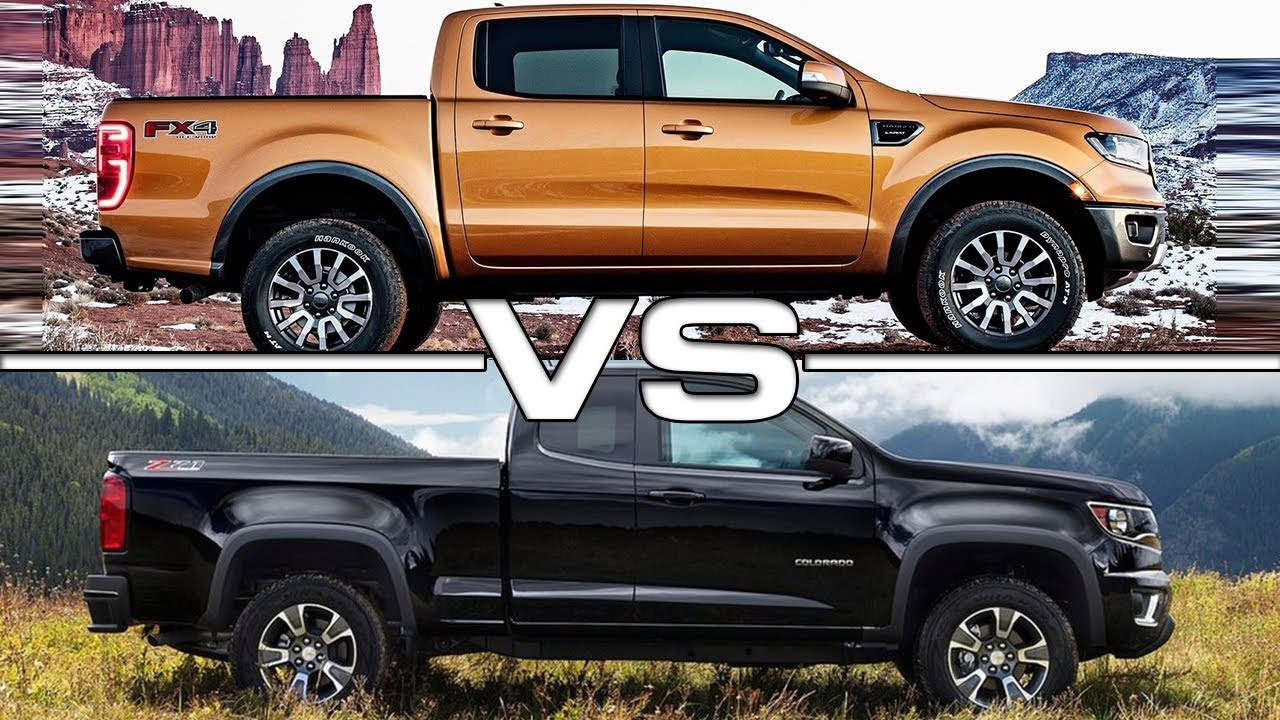 2019 Ford Ranger vs 2018 Chevrolet Colorado - YouTube