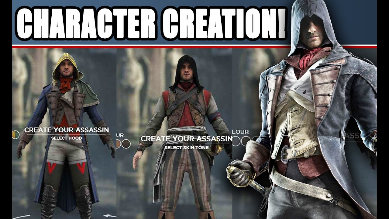 Assassin S Creed Unity Ac V Character Creation Customization