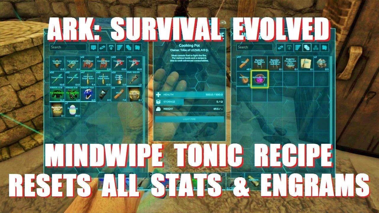 Ark Survival Evolved Mindwipe Tonic Recipe Youtube