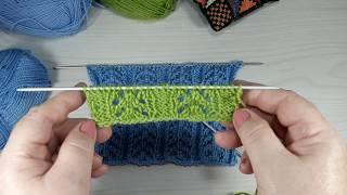 Ажурный узор для вязания спицами от Натальи Журиной. Урок № 2