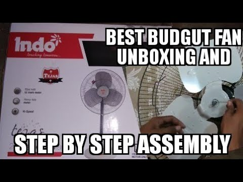 INDO BEST BUDGUT PADESTIAL FAN STEP BY STEP UNBOXING AND ASSEMBLY | Its Me Abhishek