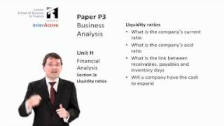 LSBF ACCA P3: Introduction to Ratio Analysis