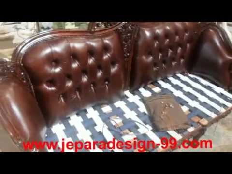 reupholster sofa in leather bed covers ready made how to upholster with upholstery youtube