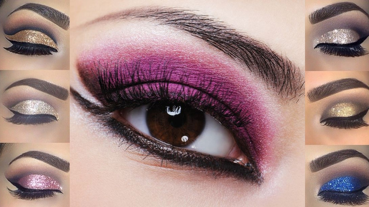 Glitter Smokey Eye Makeup Tutoriallearn How To Apply Professional Make Up  Step By Step For Yourself