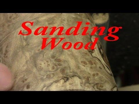 Sanding and sealing wood