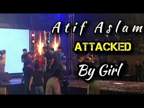 Girl Attacked Atif Aslam During Live Concert 2017
