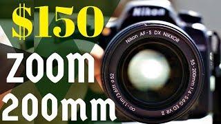 AF-S DX NIKKOR 55-200mm f 4-5 6G ED VR II Lens Review Nikon D7500 Compact Light Weight