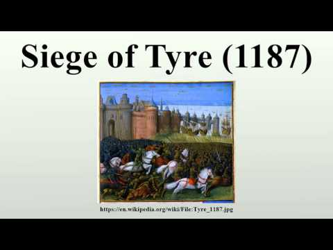 Siege of Tyre (1187)