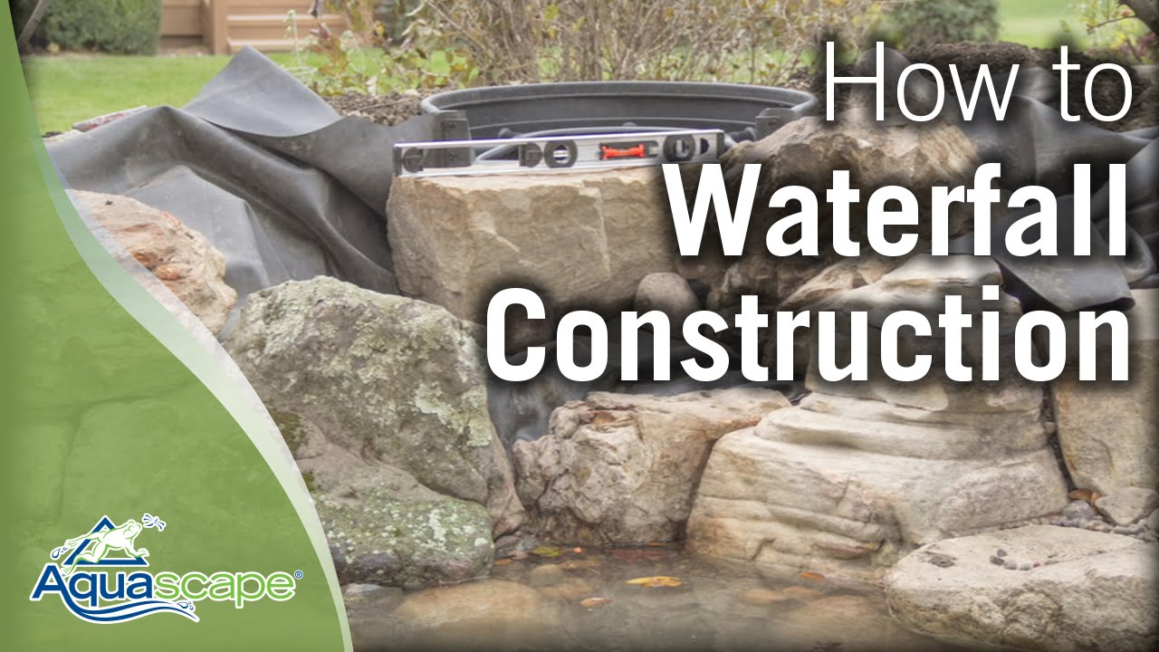 Aquascape 39 s step by step waterfall construction youtube for How to build a small lake