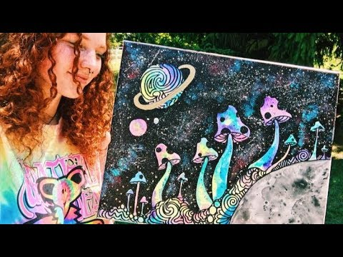 HOW TO MAKE TRIPPY ART (PAINT WITH ME!)
