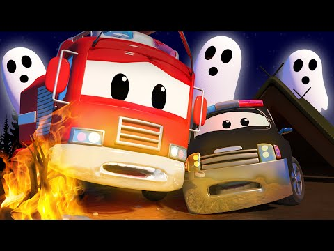 Авто Патруль -  Страшные истории в ночь Хэллоуина - Автомобильный Город  ???? ???? детский мультфиль