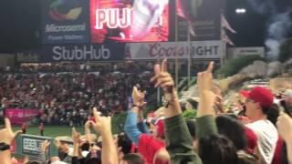 ALBERT PUJOLS HITS HOME RUN #600!! 6/3/17 ANGEL STADIUM RIGHT FIELD PAVILLION