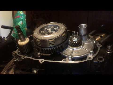 Kawasaki ke100 lock up transmission and splitting the case p5