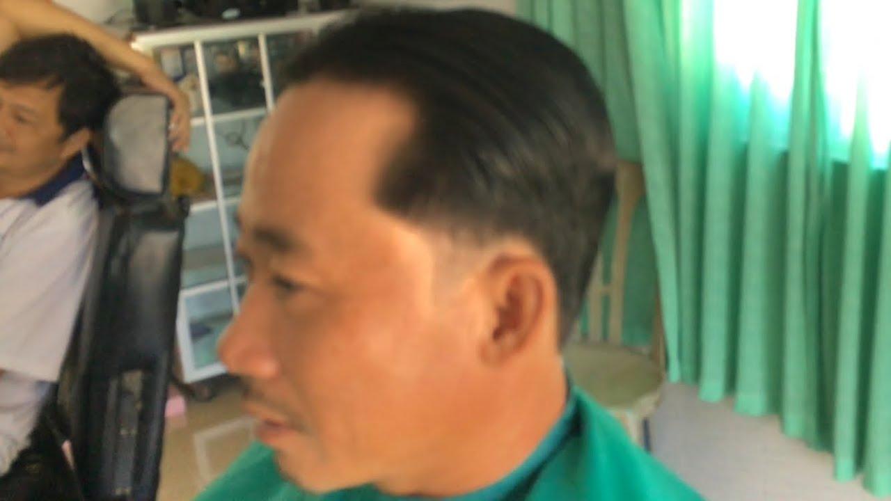 CẮT TÓC NAM | CHẢI THẤP CHO TUỔI TRUNG NIÊN ĐƠN GIẢN BÌNH DÂN | Men's Simple Haircut . | Tổng quát các nội dung về tóc nam đơn giản đầy đủ