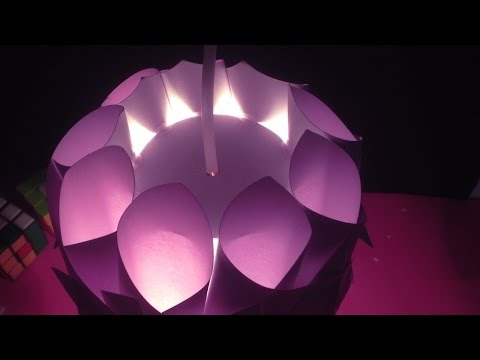 DIY Paper Lamp - Learn How To Make A Paper Lampshade Easily
