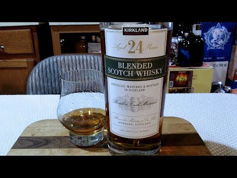 Kirkland Signature Blended Scotch Whisky Aged 24 Yrs. (80 Proof) DJs BrewTube Booze Review #17
