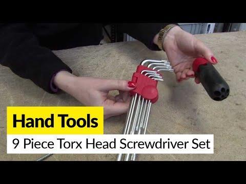 9 Piece Torx Head Screwdriver Set