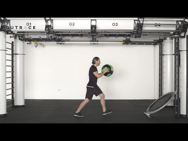 Ball Trampoline Lunge & Throw
