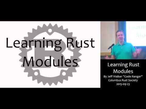 Learning Rust Modules