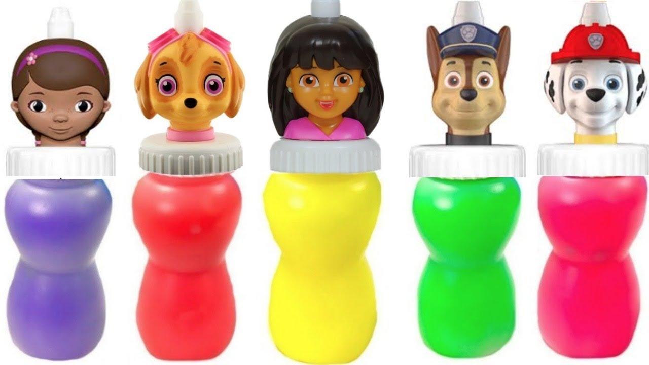 Fizzy Fun Toys: Paw Patrol Dora Doc McStuffins Slime Surprise With Fizzy