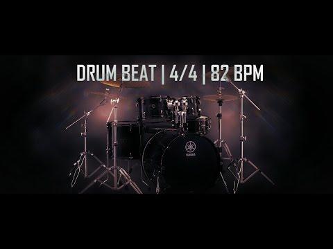 Drum beat in 4/4 at 82 BPM