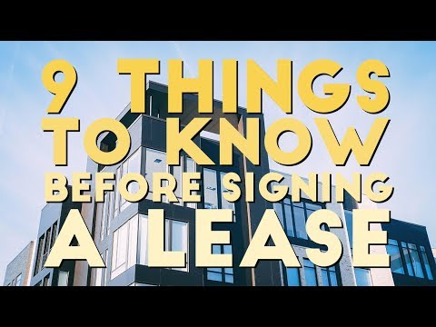DO THESE 9 THINGS BEFORE SIGNING A LEASE | Apartment Hunting 101
