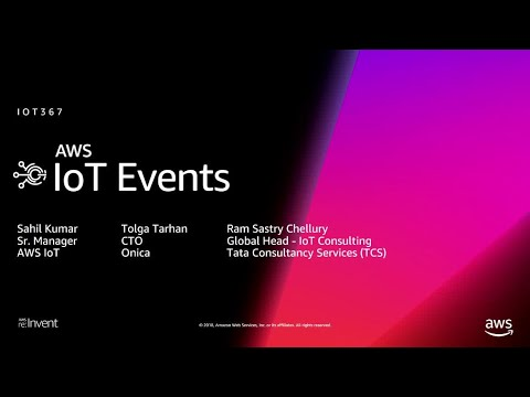 AWS re:Invent 2018: [NEW LAUNCH!] Introducing AWS IoT Events (IOT367)