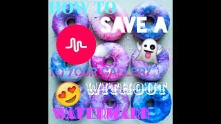 How to save a MUSICALLY to your gallery without watermark