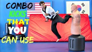 Download Video DIFFERENT COMBO KICKS THAT YOU CAN USE TAEKWONDO SKILLS TECHNIQUES TUTORIAL KARATE MP3 3GP MP4