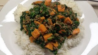 How To Make A Beef Dish With Sweet Potatoes And Spinach In 30 Minutes