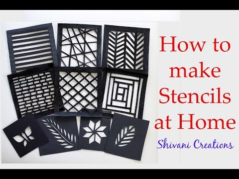 How To Make Stencils At Home/ Handmade Stencils For Craft