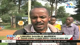 Teacher stabbed to death in Limuru, suspect lynched by angry mob
