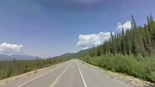 Alaska Highway, Western Yukon Section Timelapse