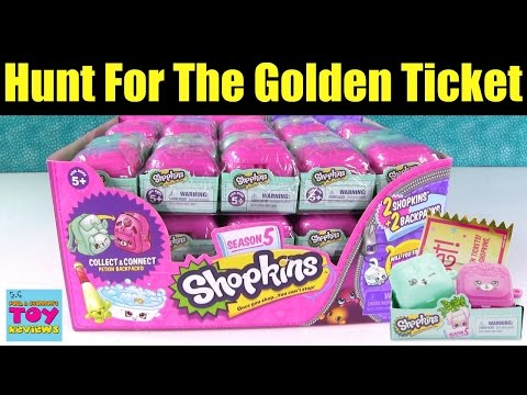 Shopkins Hunt For The Golden Ticket Season 5 2 Pack Unboxing Toy Opening | PSToyReviews
