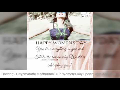 AnchorMadhuriiSaanchii Hosting - WOMEN'S DAY