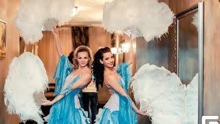 Танец шоу-балета с молодоженами