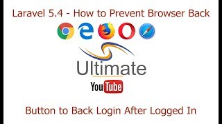 Laravel 5.4  - How to Prevent Browser Back Button to Back Login After Successfully Logged In