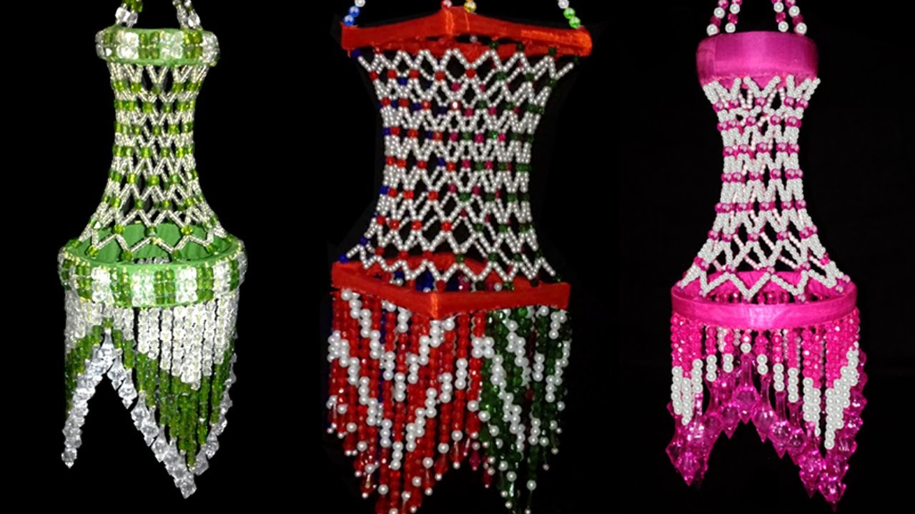 Diy Wall Hanging Beaded Jhumar Chandelier Home
