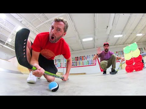 GAME OF ULTIMATE HOCKEY TRICK SHOTS! /