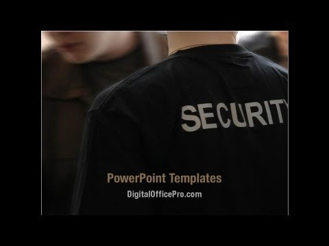 security officer powerpoint template backgrounds, Presentation templates