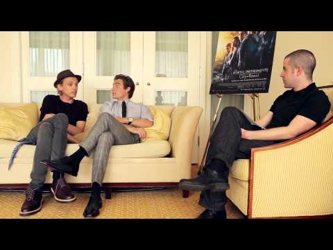 Jamie Campbell Bower and Kevin Zegers talk 'The Mortal Instruments: City of Bones'