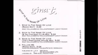 Gina T. - Stop in the name of love (S´NJ Chicago Club Mix)