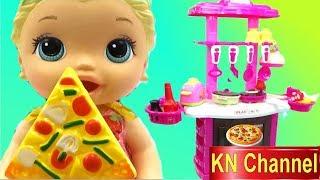 KN Channel Đồ chơi nhà bếp BÚP BÊ BABY ALIVE ĐI SIÊU THỊ & NẤU ĂN