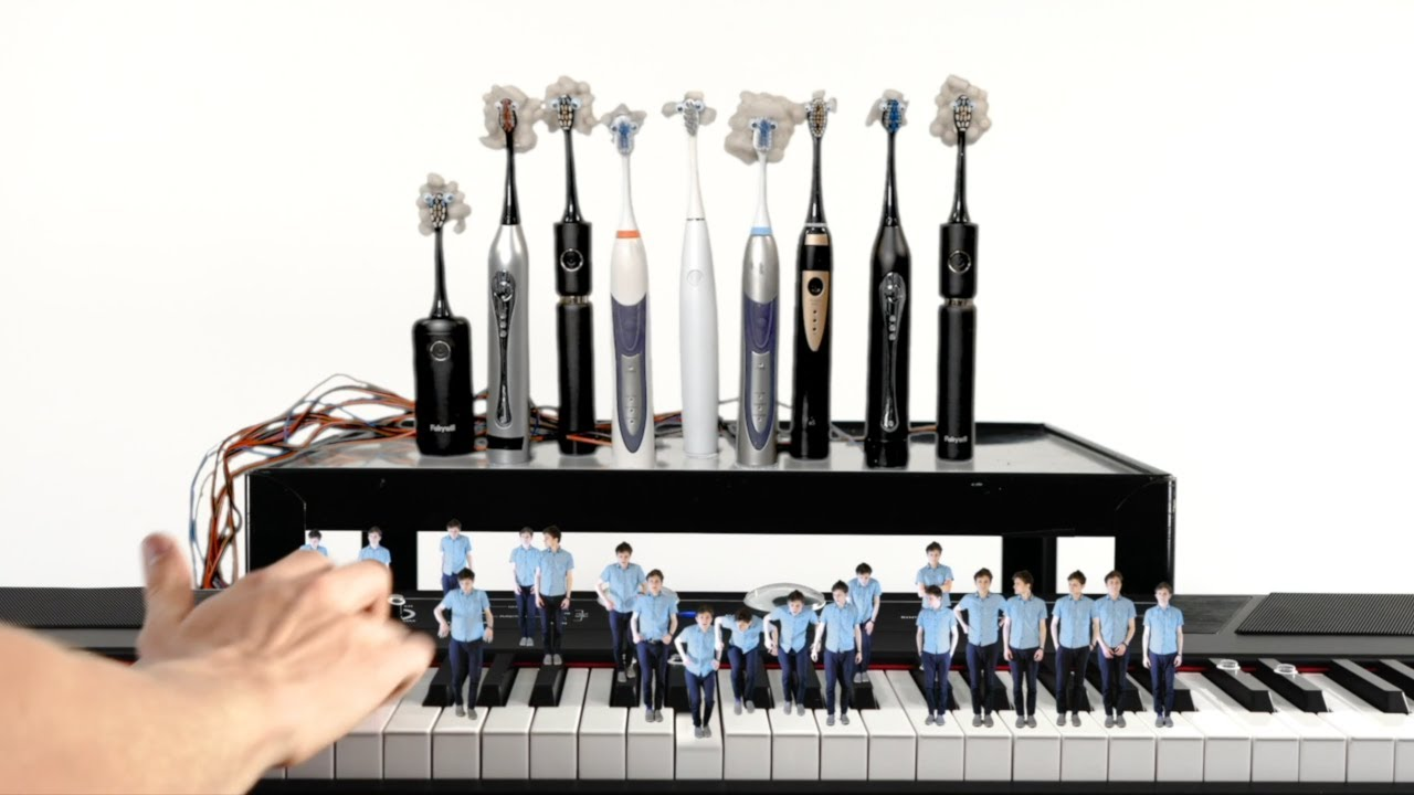 Bach - Toccata in D Minor on Electric Toothbrush Organ (ft. Beanzo)