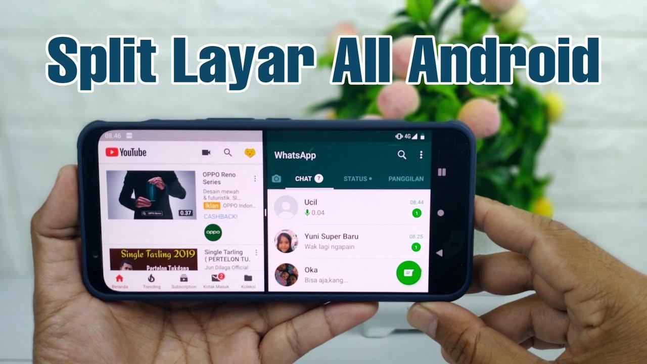 Cara Split Layar Di Semua Hp Android Youtube