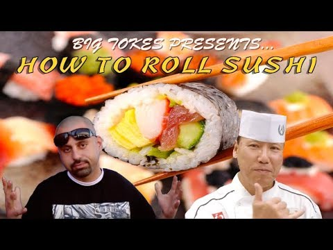 How To Roll Sushi | Cholos Try With Big Tokes #cholostry #howto #bigtokes #diy #howtorollsushi