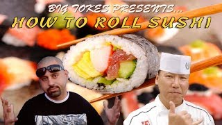 CHOLOS TRY HOW TO ROLL SUSHI